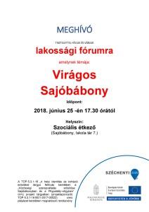 MEGHÍVÓ_fórum Virágos Sajóbábony 2018. 06. 25.