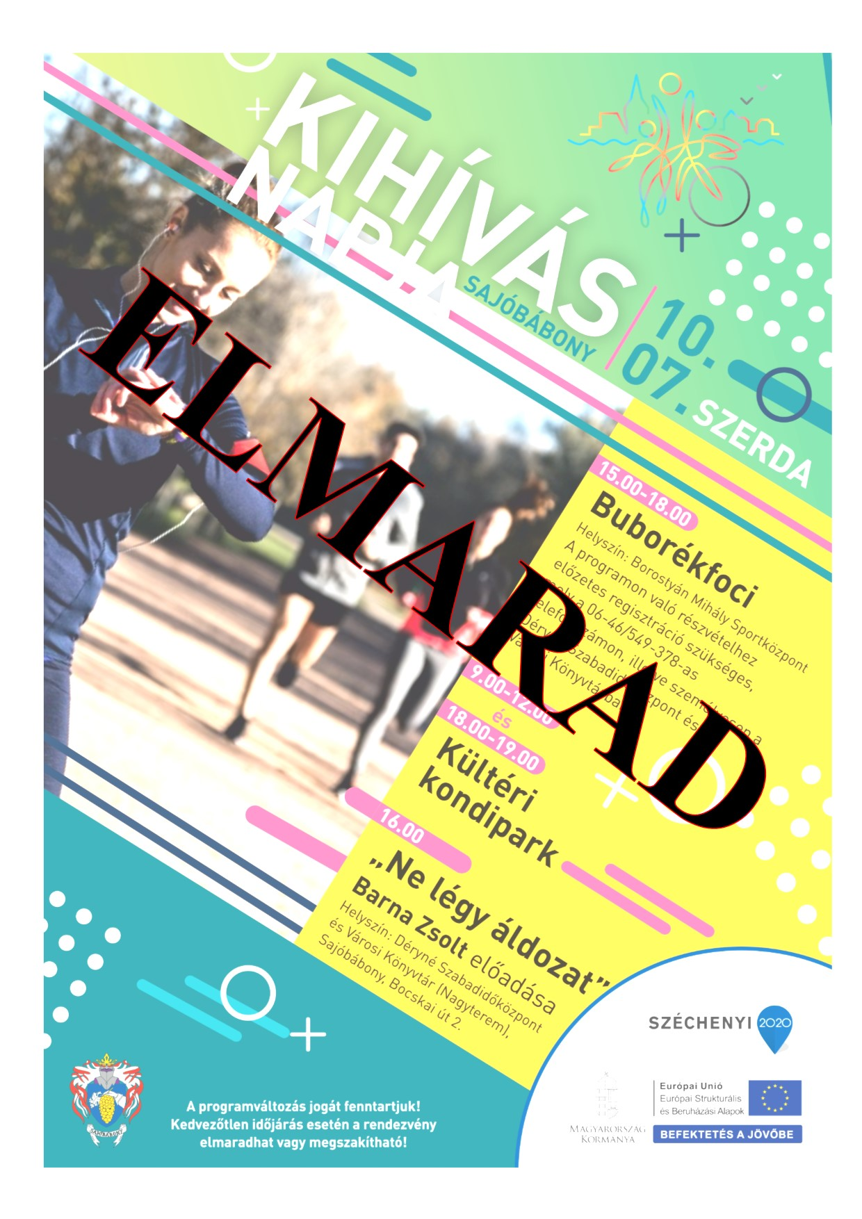 2020. október 07-énKihívás Napi sportrendezvény ELMARAD!